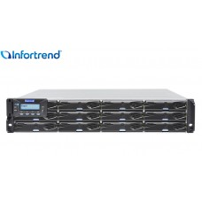 Eonstor DS 3012G Storage Infortrend 12 bay | host board SAS, FC e Gigabit Ethernet | até 192TB
