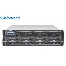 Eonstor DS 3016G Storage Infortrend 16 baias | host board SAS, FC e Gigabit Ethernet | até 256TB