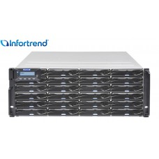 Eonstor DS 3024G Storage Infortrend 24 baias | host board SAS, FC e Gigabit Ethernet | até 384 TB
